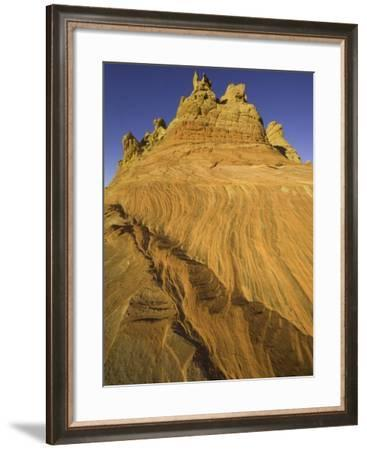 Layers of colorful sandstone at Coyote Buttes-John Eastcott & Yva Momatiuk-Framed Photographic Print