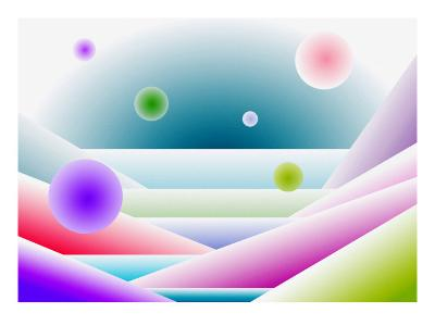 Layers of Space and Round Forms-Rich LaPenna-Giclee Print