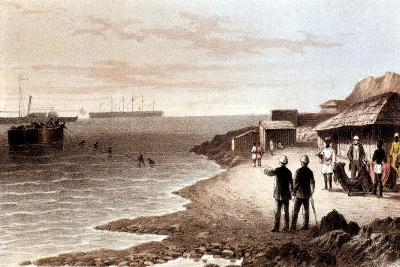 Laying of the Telegraph Cable across the Indian Ocean Between Bombay and Aden, 1870--Giclee Print