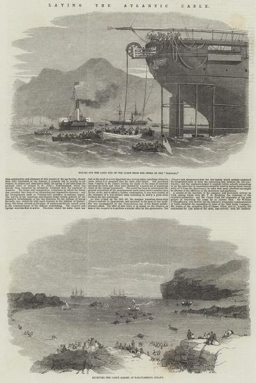 Laying the Atlantic Cable--Giclee Print