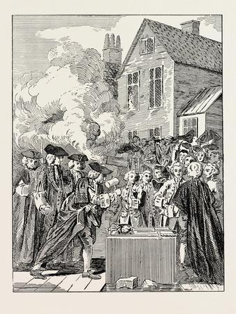 Laying the Foundation-Stone of Blackfriars Bridge 1760 London--Giclee Print