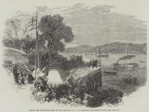 Laying the Foundation-Stone of the Brisbane Bridge, at Queensland, New South Wales