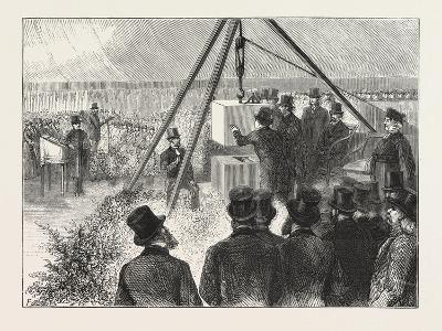 Laying the Foundation Stone of the East London Synagogue East London Synagogue Stepney Green on Mon--Giclee Print