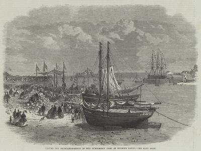 Laying the Foundation-Stone of the Hubberston Dock at Milford Haven--Giclee Print