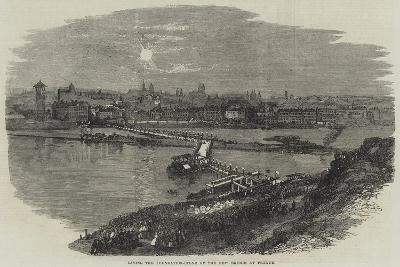 Laying the Foundation-Stone of the New Bridge at Prague--Giclee Print