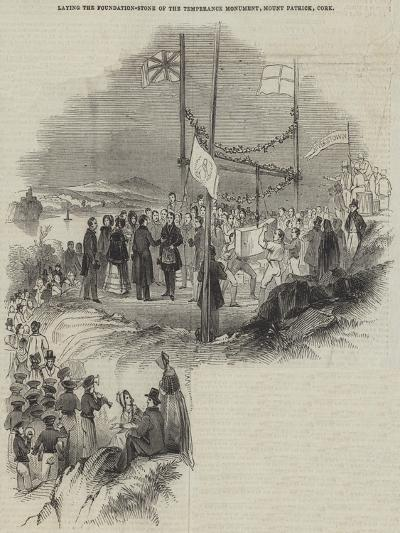Laying the Foundation-Stone of the Temperance Monument, Mount Patrick, Cork--Giclee Print