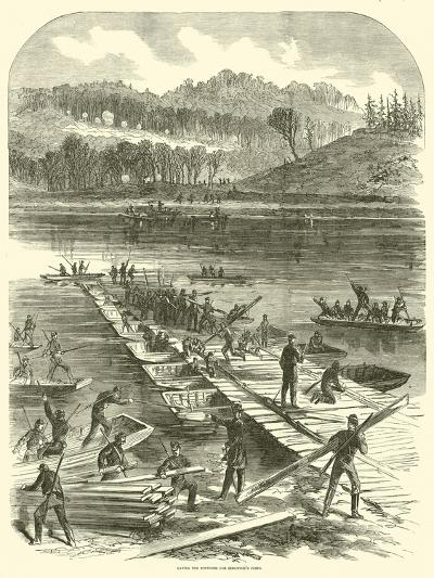 Laying the Pontoons for Sedgwick's Corps, April 1863--Giclee Print