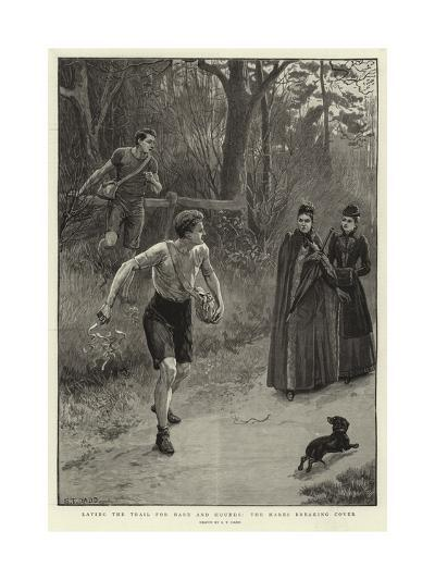Laying the Trail for Hare and Hounds, the Hares Breaking Cover-S^t^ Dadd-Giclee Print
