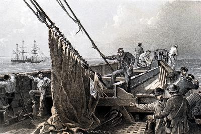 Laying the Transatlantic Telegraph Cable, 1865--Giclee Print