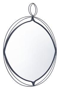 Layla Round Mirror Black