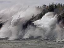 Fierce Lake Superior Waves Pound Minnesota's North Shore-Layne Kennedy-Photographic Print