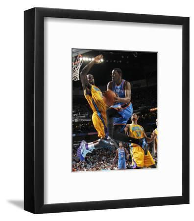 Oklahoma City Thunder v New Orleans Hornets: Kevin Durant and Emeka Okafor
