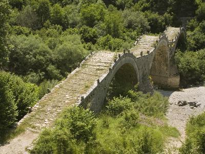 Lazaridis (Kontodimos) Bridge, Dating from 1753, Kipi, Zagoria Mountains, Epiros, Greece, Europe-Rolf Richardson-Photographic Print