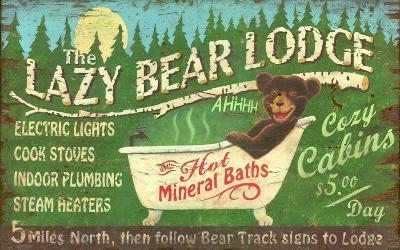 Lazy Bear Vintage--Wood Sign