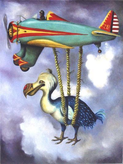 Lazy Bird W Dodo-Leah Saulnier-Giclee Print