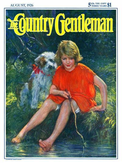 """Lazy Summer Day,"" Country Gentleman Cover, August 1, 1926-Joseph Simont-Giclee Print"