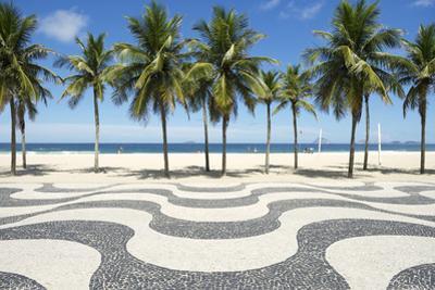 Copacabana Beach Boardwalk Pattern Rio De Janeiro Brazil by LazyLlama