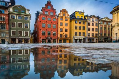 Colorful Houses in Stockholm's Gamla Stan Old Town District, Sweden by lbryan