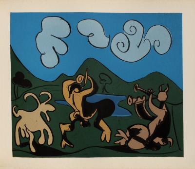 LC - Faunes et chèvres-Pablo Picasso-Premium Edition