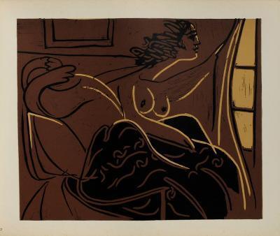 LC - Femme regardant par la fen?tre-Pablo Picasso-Premium Edition