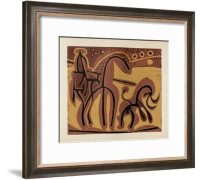 LC - Picador et taureau-Pablo Picasso-Framed Premium Edition