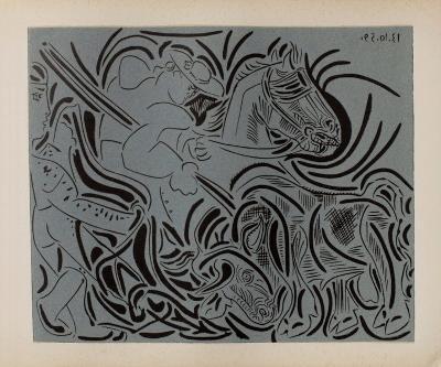 LC - Pique (fond bleu)-Pablo Picasso-Collectable Print