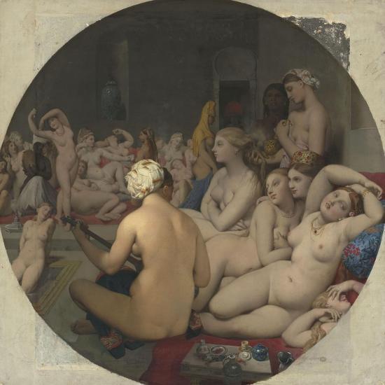 Le Bain turc-Jean-Auguste-Dominique Ingres-Giclee Print