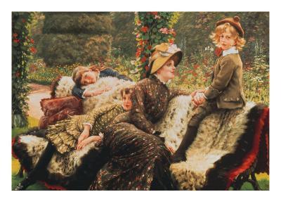 Le Banc de Jardin, 1882-James Tissot-Giclee Print