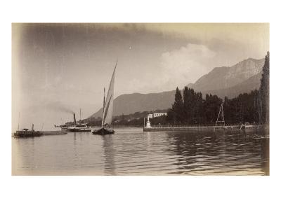 """Le bateau """"le Jura"""" entrant dans le port d'Evian-Alexandre-Gustave Eiffel-Giclee Print"""