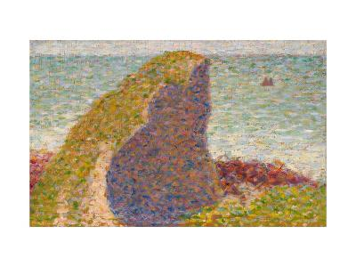 Le Bec Du Hoc, Grandcamp (Study)-Georges Seurat-Giclee Print
