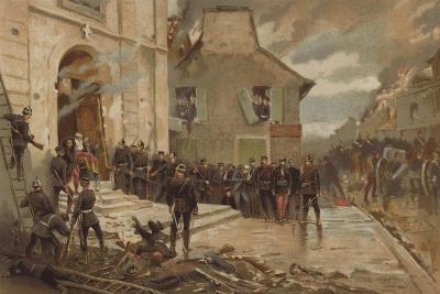 Le Bourget, 30 October 1870-Alphonse Marie de Neuville-Giclee Print
