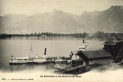 Le Bouveret Port Valais Kt. Waadt, Dampfer Simplon--Giclee Print