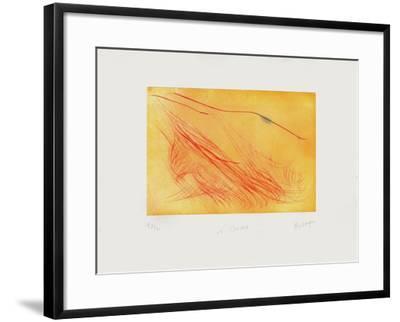 Le Brochet-Jean Messagier-Framed Limited Edition