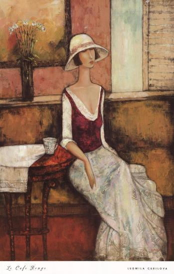 Le Caf Rouge-Ludmila Curilova-Art Print