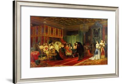 Le Cardinal Mazarin Mourant, 1830-Paul Delaroche-Framed Art Print