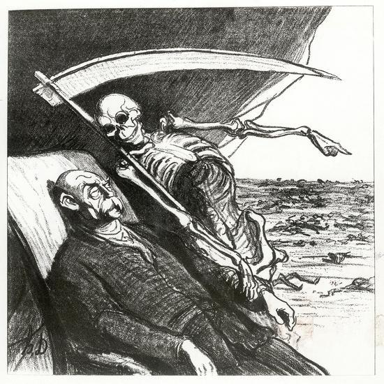 Le Cauchemar De Bismarck: La Mort: 'Merci', Bismarck's Nightmare, 1870-Honore Daumier-Giclee Print