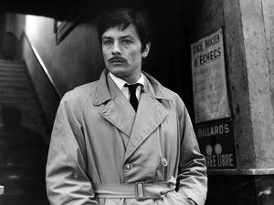 Le Cercle Rouge The red circle by Jean-Pierre Melville with Alain Delon, 1970 (b/w photo)