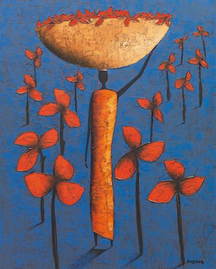 Le Champ Bleu-Michel Rauscher-Art Print