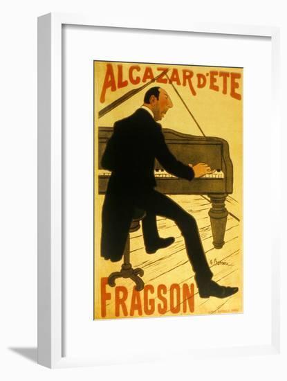 Le Chanteur De Music Hall H. Fragson Au Cabaret Alcazar D Ete--Framed Art Print