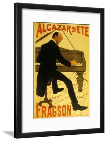 Le Chanteur De Music Hall H. Fragson Au Cabaret Alcazar D Ete