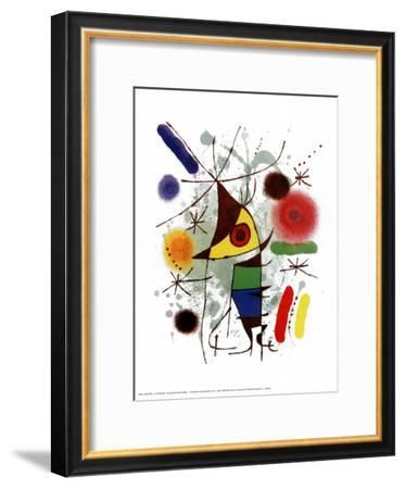 Le Chanteur-Joan Miro-Framed Art Print