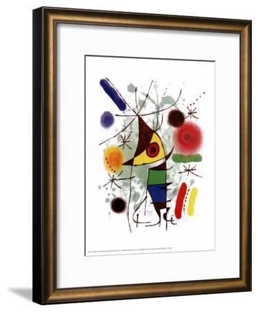 Le Chanteur-Joan Miro-Framed Art Print