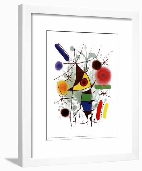 Le Chanteur-Joan Miró-Framed Art Print