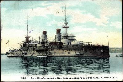 Le Charlemagne Im Hafen, Kriegsschiff--Giclee Print
