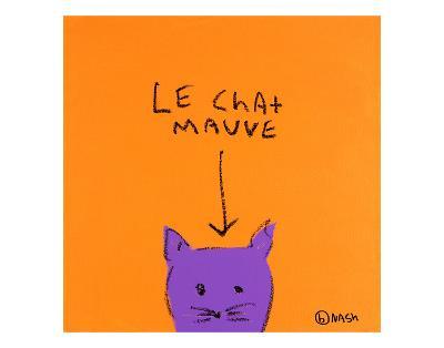 Le Chat Mauve-Brian Nash-Art Print