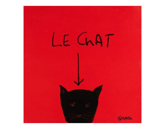Le Chat-Brian Nash-Art Print