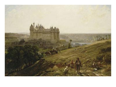 Le Château de Pierrefonds en restauré-Paul Huet-Giclee Print