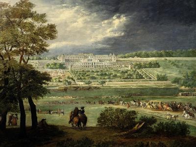 Le Château Neuf De Saint-Germain Et Les Jardins, Lors De La Reconstruction Des Terrasses (1664-65)-Adam Frans van der Meulen-Giclee Print