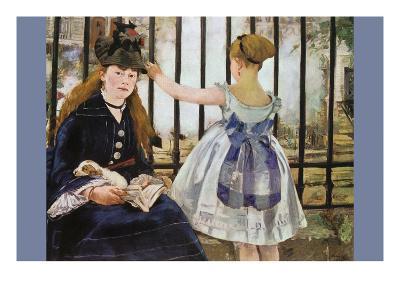 Le Chemin De Fer-Edouard Manet-Art Print