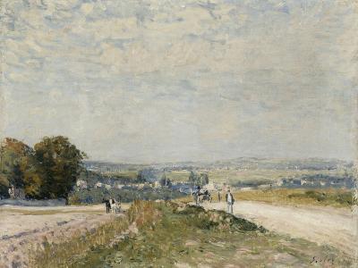 Le Chemin de Maubuisson à Louveciennes-Alfred Sisley-Giclee Print